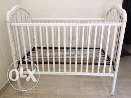 Baby Cot - White Colour - 1 year used