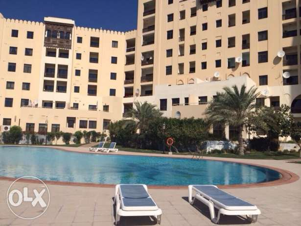 1br & half sea view flat for rent in Amwaj Island