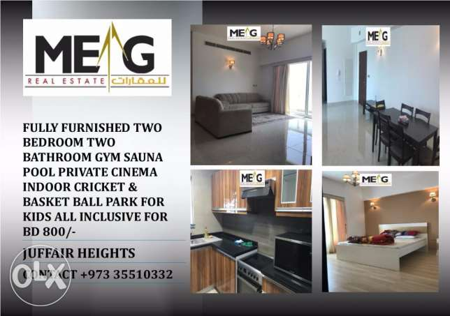 Fully Furnished Brand New Flats for Rent in Juffair Heights Bd800/-