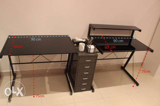 Office Computer / PC Table with Drawers
