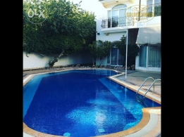 Lovely 5 BR semi furnished villa for rent with private pool,garde