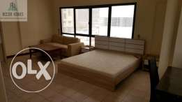 Fully furnished studio flat for rent in Busaiteen