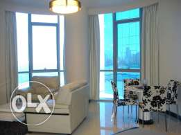 sea view studio for rent in juffair fully furnished