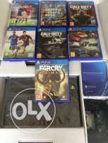 New Original Sony PlayStation 4 500GB with 2 controllers and 12 games
