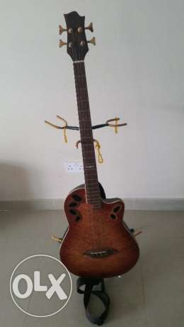 Accoustic Bass Guitar and triple stand