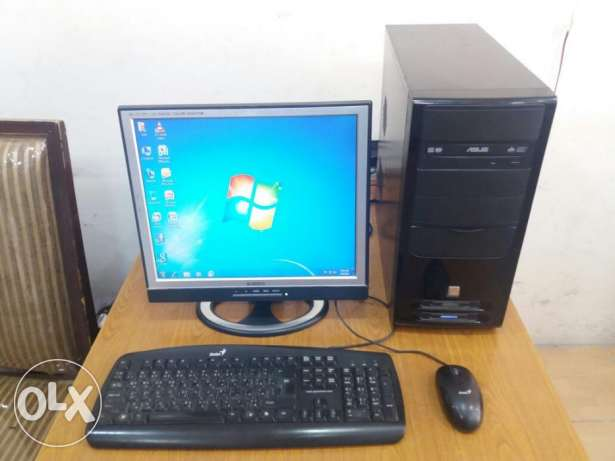 "Computer Full Set with 17"" LCD Monitor/ Keyboard, Mouse\ DVD writer"