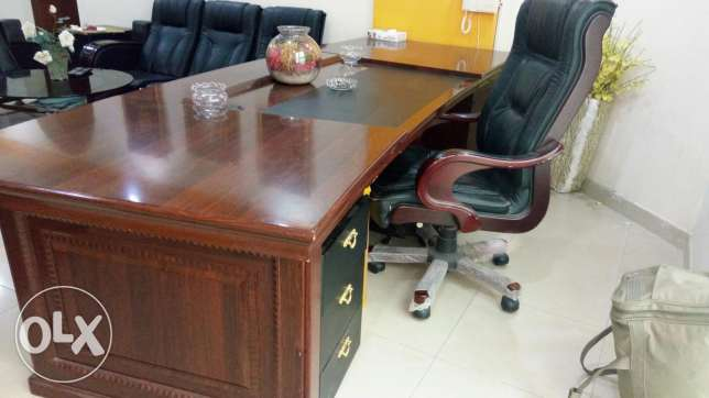 Executive office table with chair for sale