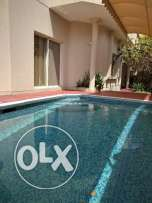 4 Bedroom semi furnished villa with private pool,garden,garage