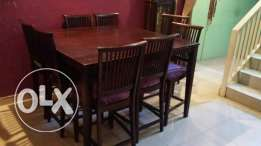 8 chair dinning table for sale