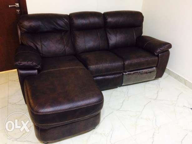 Brown Recliner Leather sofa