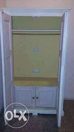 Solid wood 2 door cupboard for sale