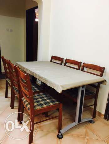 Dining Table + 6 wooden chairs