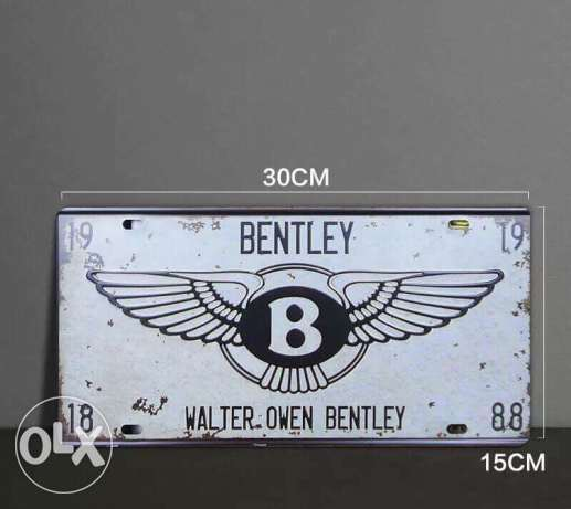 Bentley plate number