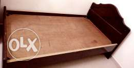 Good Condition Extra Sized Single Wooden Bed