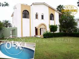 Semi furnished 5 BR villa with large private garden for rent- inclusiv