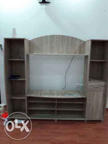 like new only 6 months old tv stand lockers