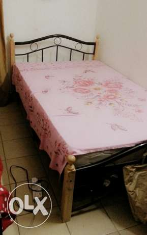 Queen Bed with mattress & sofa two persons