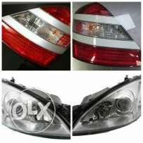 Headlights Mercedes S class front and rear original light