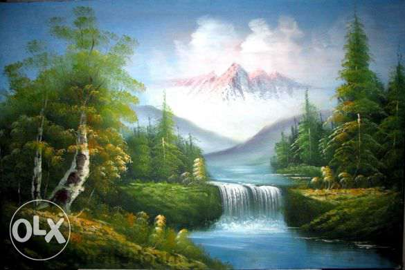 SALE Fine Art Painting Landscape, oil on canvas, size large