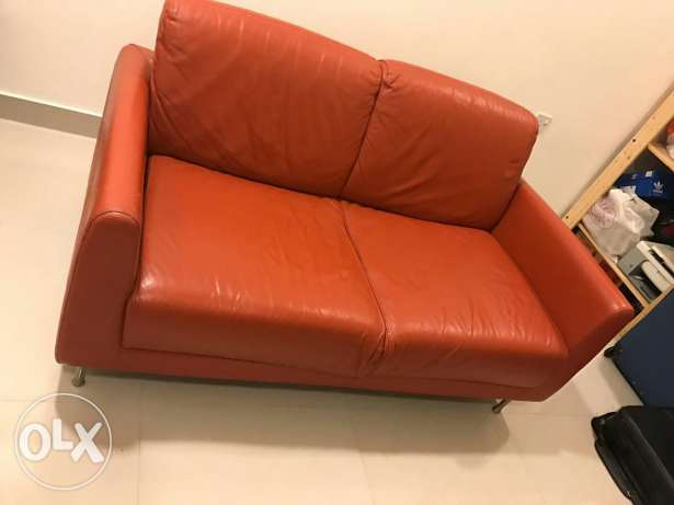 2 seater pure leather sofa
