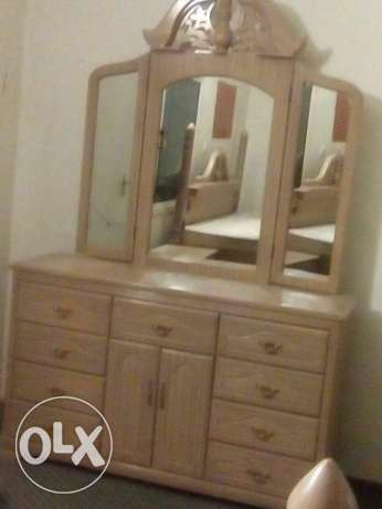 Bedset forsale pure wood الرفاع‎ -  4