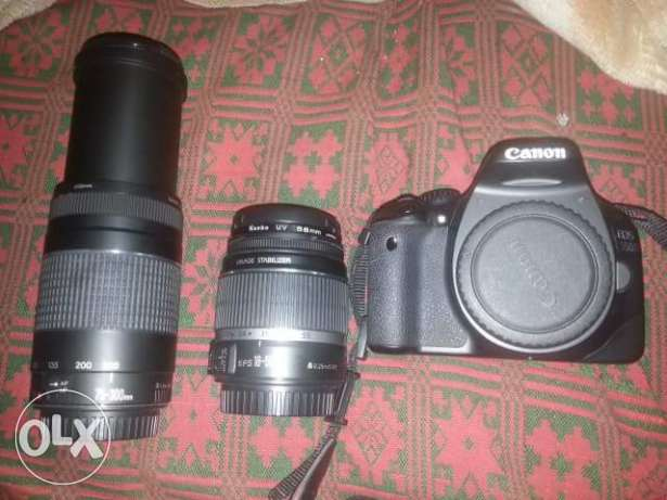 Canon 550D 3 lans 18.55and 75.300 only 150
