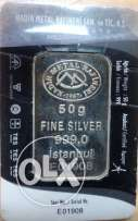 50 gram Fine Silver pure Turkish Silver.