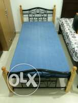 Single Bed with used mattress 25/-BD