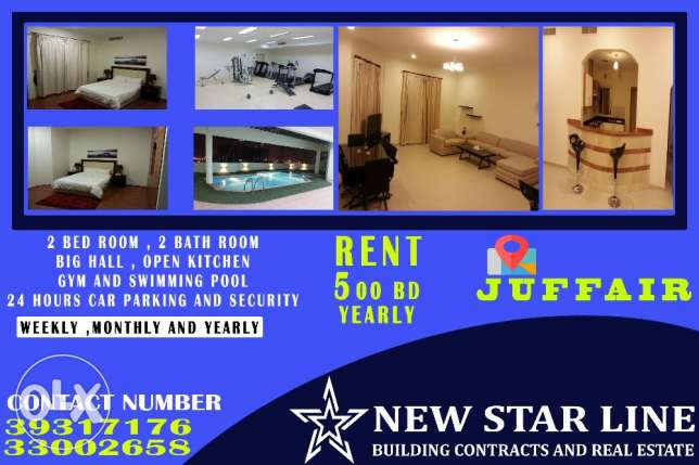 2 BR - Fully Furnished 2 Bedroom Flat For Rent In Juffair