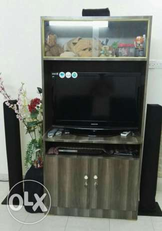 TV stand with Showcase & 2 door cupboard.(TV stand only)