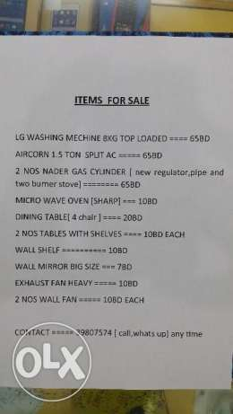 items for sale. ...expat leaving