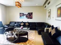 Luxury 3 bed.with Maids room apartment. private garden,Beach access.