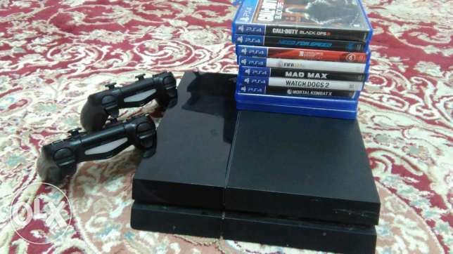 ps4 | playstation 4...500gb with more than 10 games and 2 controllers