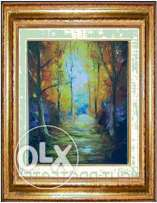 "Oil paintings by Ahmed Abdou - ""The Path"" - 50*40"