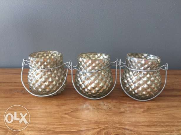 Set of 3 Pottery Barn candle holder for sale!!