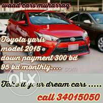 Toyota yaris hatchpack 2015 model for sale. For loan installments
