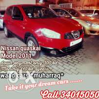 Nissan quaskai 2011 model for sale . Installment also
