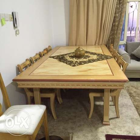 Dining table and buffet cabinet for sale