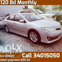 Installment Cars : Toyota camry glx Model 2013 for sale