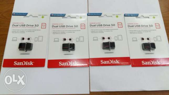 New Sandisk 64gb Usb Dual Usb And Mobile