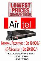 New Airtel Normal/HD Receiver & Recharge