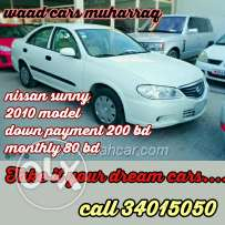 Nissan sunny 2010 model for installment. Amazing offer low models