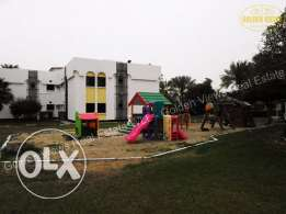 2 Bedroom fully/semi furnished flat for rent with play area,garden,poo
