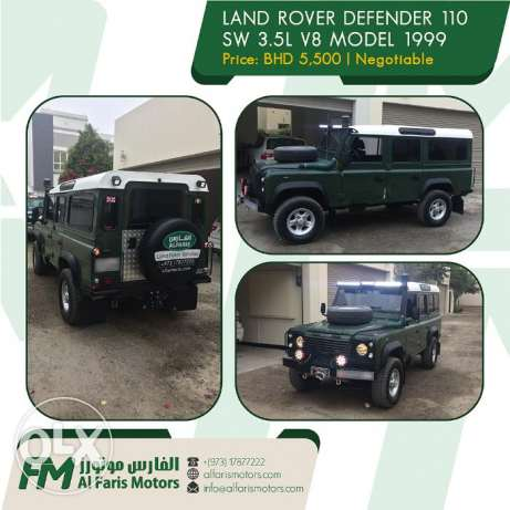 Land Rover Defender 110 SW 3.5L V8.