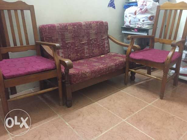 Sofa, chairs and dining table