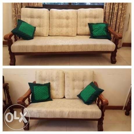 Wooden Sofa 3 + 2 seater