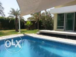 semi furnished villa with private pool and garden