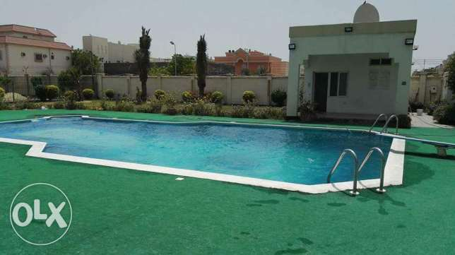 3 plus maid room semi furnished compound villa for rent in Sanad area
