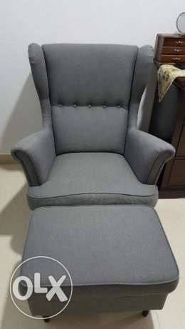 Ikea wing chair with footstool
