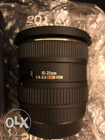 FOR SALE camera lens sigma 10-20